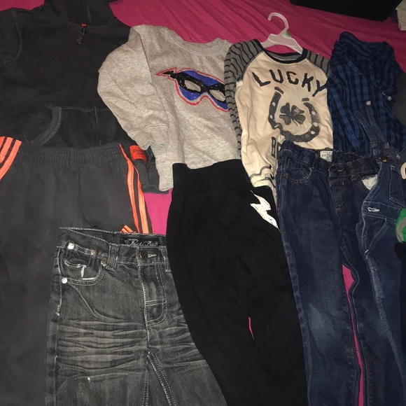 Children's Place Other - 12ITEM WINTER LOT long sleeve, jeans, overall